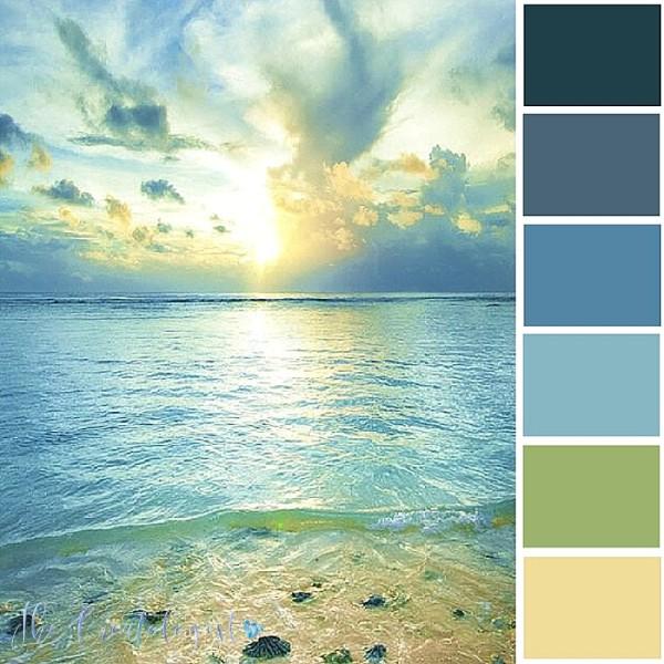 Color Inspiration | Blue Beach Sunset