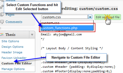 custom_functions.php thesis theme