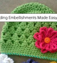 Crochet Tip: Adding Embellishments Made Easy!