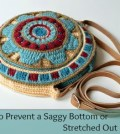 Crochet Tutorial: How to Prevent a Saggy Bottom & Stretched Out Strap!
