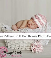 Free Crochet Pattern: Puff Ball Beanie Photo Prop