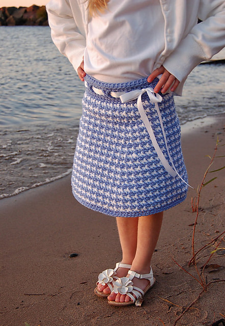 Houndstooth Girls Skirt by A Crocheted Simplicity