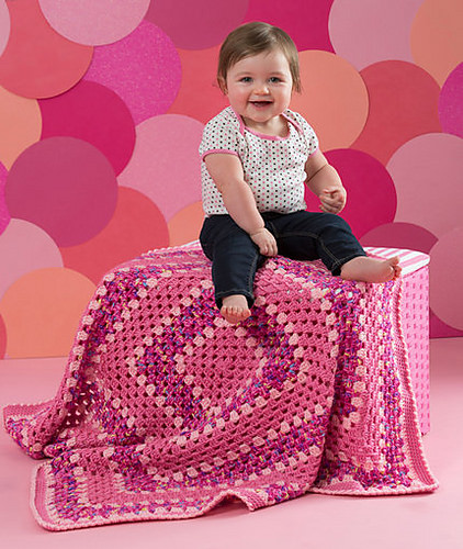 Make it Pink Blanket by Salena Baca Crochet