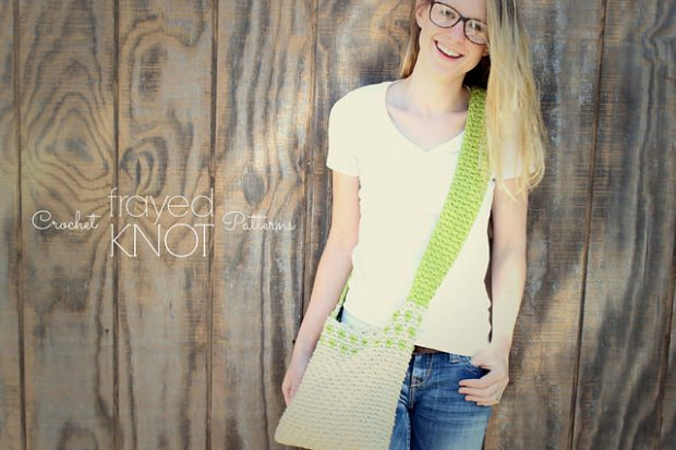 Scalloped Messenger Bag by Frayed Knot