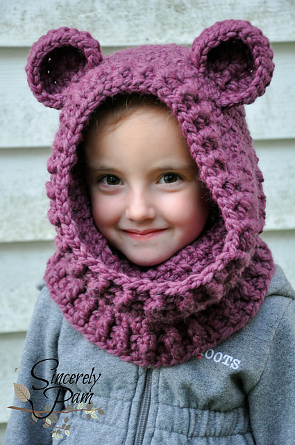 Un'bear'ably Cute Hooded Cowl by Sincerely Pam (1)