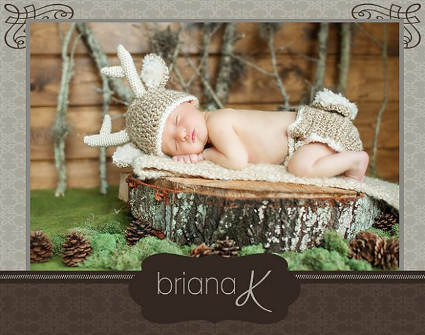 White Tail Deer Baby Outfit by Briana K Crochet