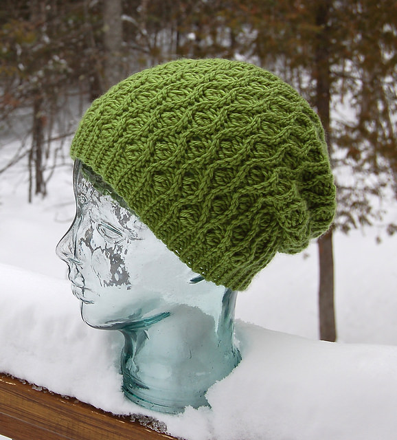 Winter Waves Reversible Beanie & Slouch by A Crocheted Simplicity