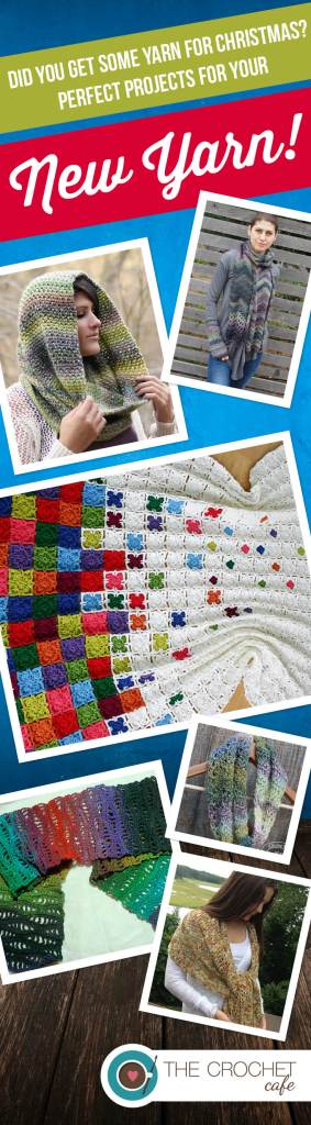 Did you get some yarn for Christmas? Perfect projects for your New Yarn! (Pinterest)