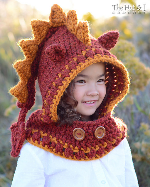 Lucky Dragon Hood & Cowl by The Hat & I