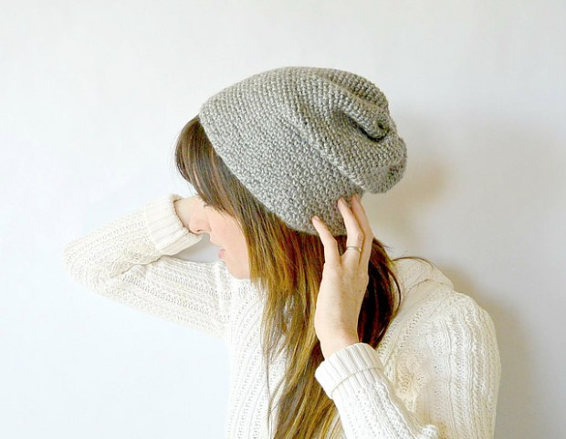 Woven Look Fave Slouch Beanie by Mama in a Stitch Blog