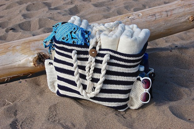 Nautical Knots Beach Tote Bag by Jennifer Pionk