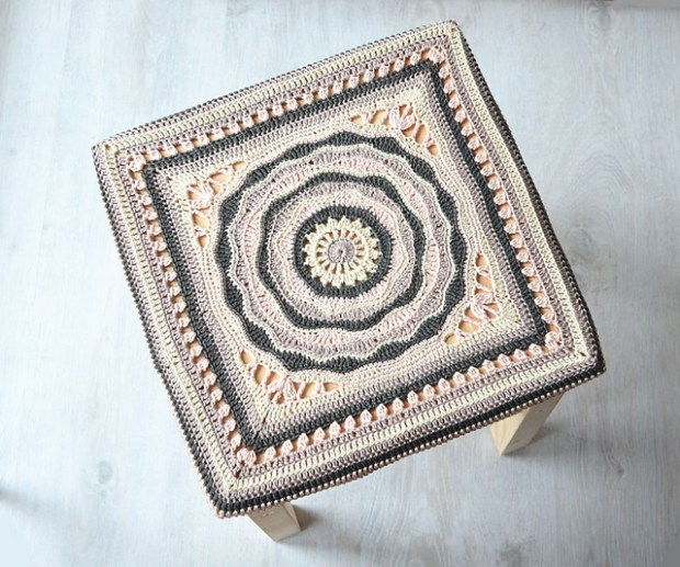 Oceanic Rose 12'' Afghan Square by Tatsiana Kupryianchyk