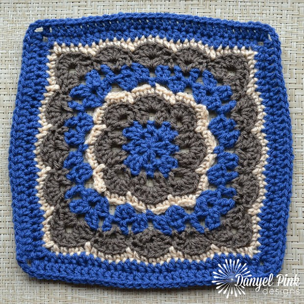 Winter Bloom Afghan Square by Danyel Pink