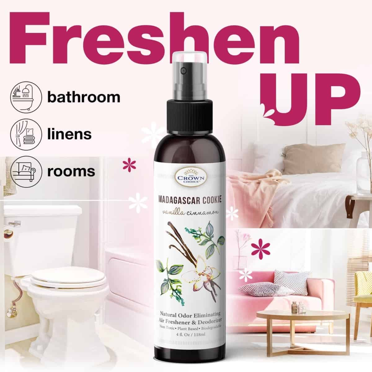 Natural Bathroom Freshener That Eliminates Odors With Natural Ingredients