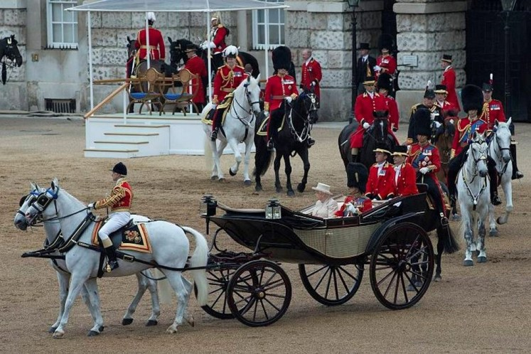Trooping the Colour has celebrated the Sovereign's birthday for centuries. Edward VII decided Novembe was too cold so chse a summer date instead. MOD