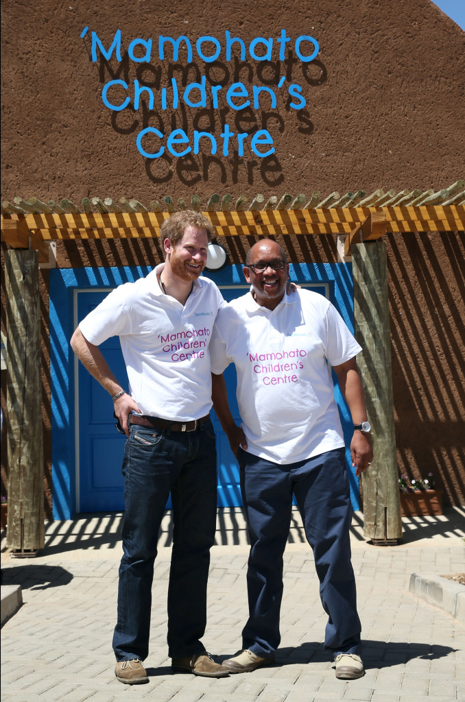 Prince Harry and Prince Seeiso of Lesotho at the opening of Mamohato Children's Centre in Lesotho, on the first day of his tour. Picture by Stephen Lock / i-Images