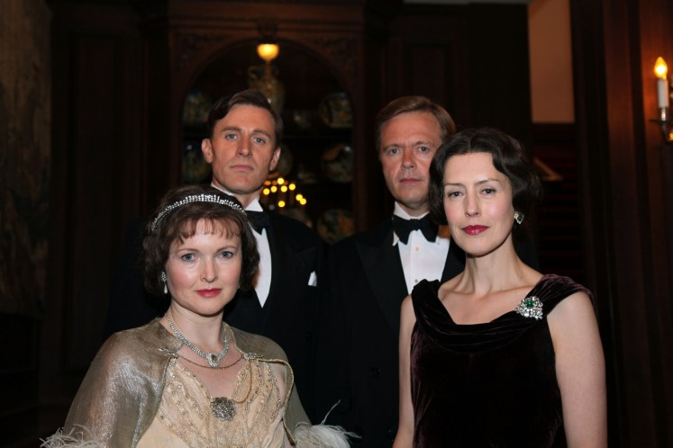 Elizabeth would have spent much time with both Albert and David. Royal Wives at War BBC/Monika Kupper
