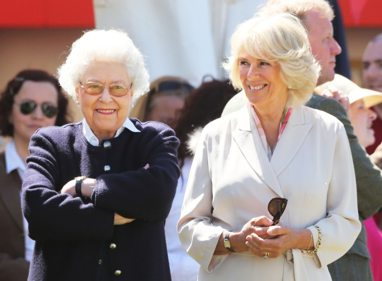 The Queen and the Duchess of Cornwall enjoying each others company at the Royal Windsor Horse Show. Picture by Stephen Lock / i-Images