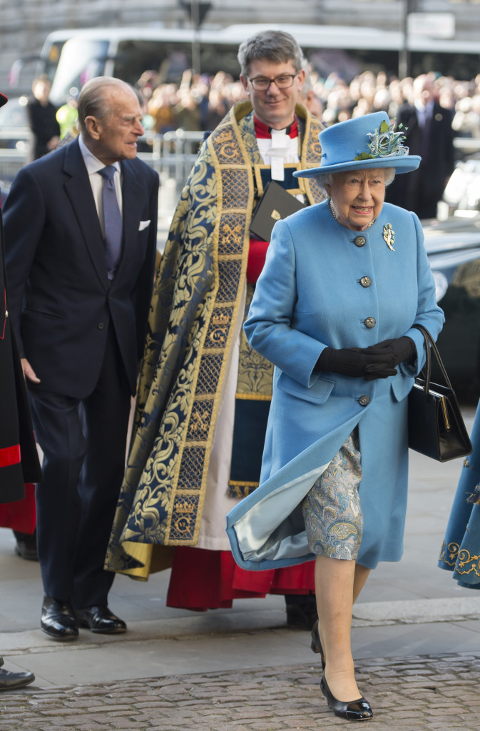 The Duke of Edinburgh and Her Majesty The Queen arrive at Westminster Abbey, to attend the Commonwealth Service on Commonwealth Day. Picture by David Mirzoeff / i-Images