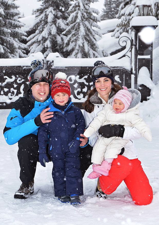 A snowy scene in the Alps for William, Kate, George and Charlotte. PA/John Stillwell