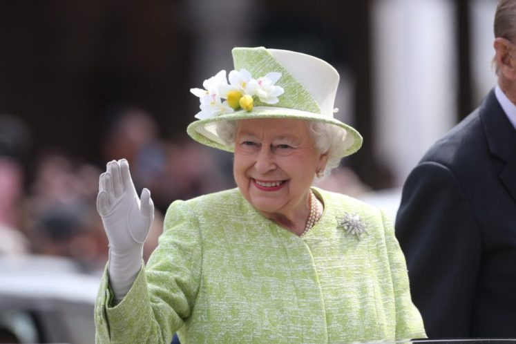 The Queen in Windsor for a birthday walkabout. I-images