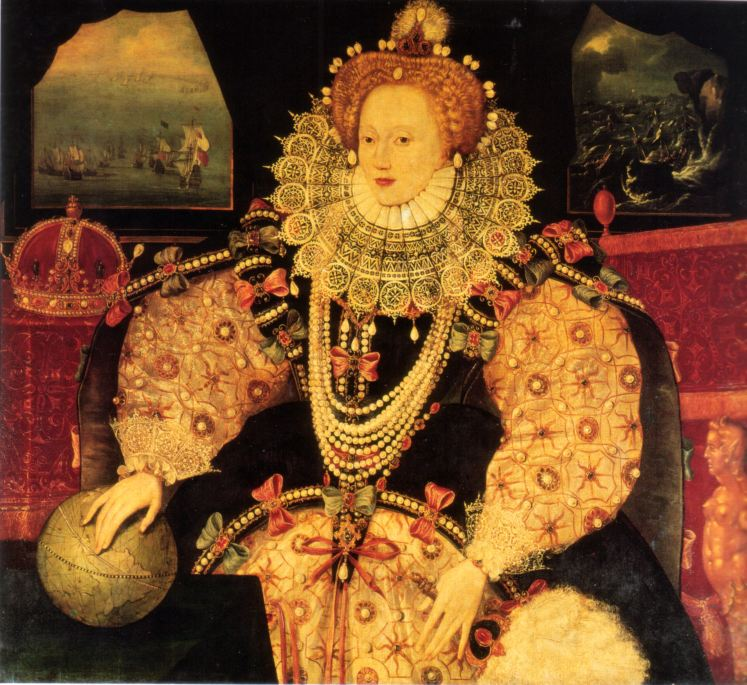 The Armada Portrait shows a defining moment of Elizabeth I's reign (wikimedia commons)