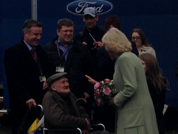Camilla took her time to speak with the elderly guest at DMS Whittington in 2014. Victoria Howard