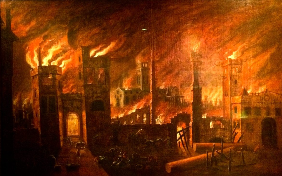 The Great Fire of London in 1666 destroyed most of the city as well as St Pauls Cathedral Herry Lawford)