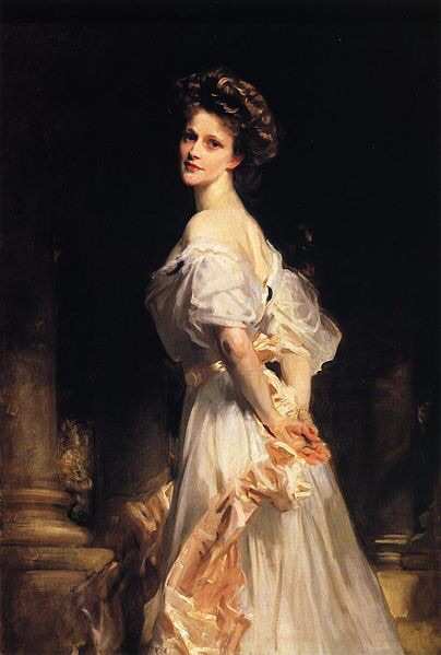 A young Nancy Astor, in the portrait which hangs at her home of Clivedon (Wikimedia Commons)