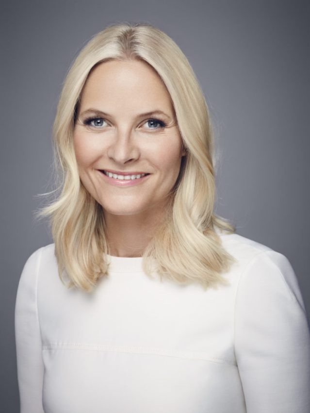 Mette-Marit smiles for photos to mark her 43rd birthday