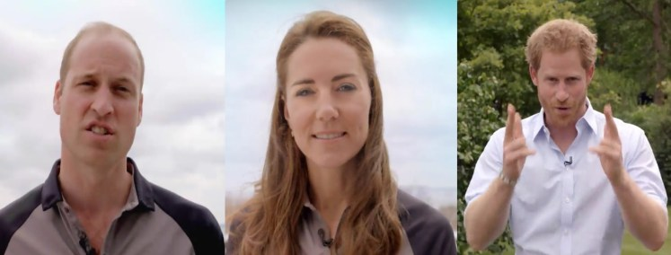 The Duke and Duchess of Cambridge and pricne Harry have sent their luck to Team GB for Rio 2016