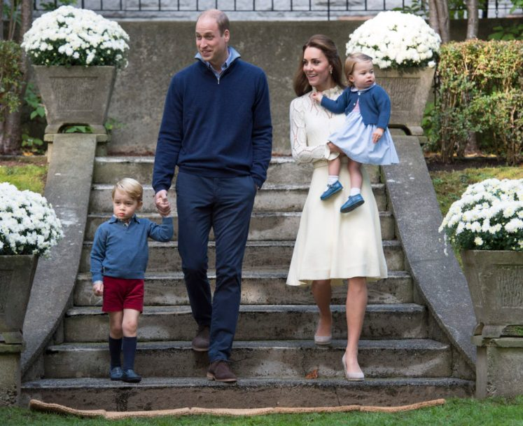 The Duke and Duchess of Cambridge, Prince George and Princess Charlotte attend a children's party for Military families at Government House Picture by: Splash News