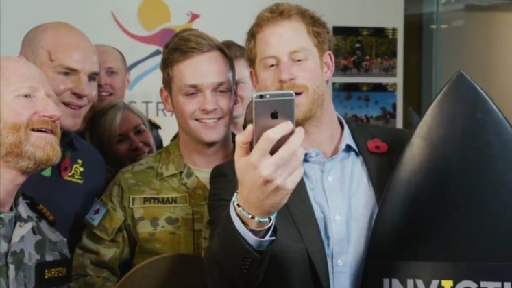 Prince Harry answers the phone to Kylie Minogue to announce the Sydney 2018 Invictus Games