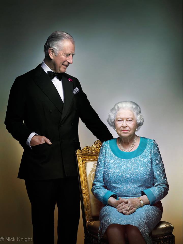A new photo of The Queen and Prince Charles celebrates Her Majesty's 90th birthday