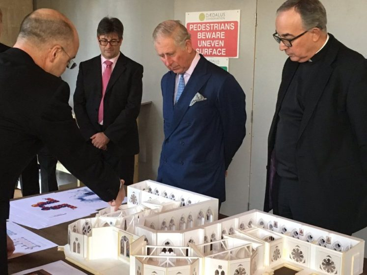 The new design for the gallery is shown to Prince Charles (@WAbbey)