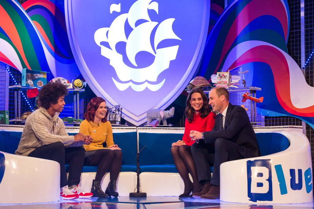prince william and kate Duke and Duchess of Cambridge receive their gold blue peter badges