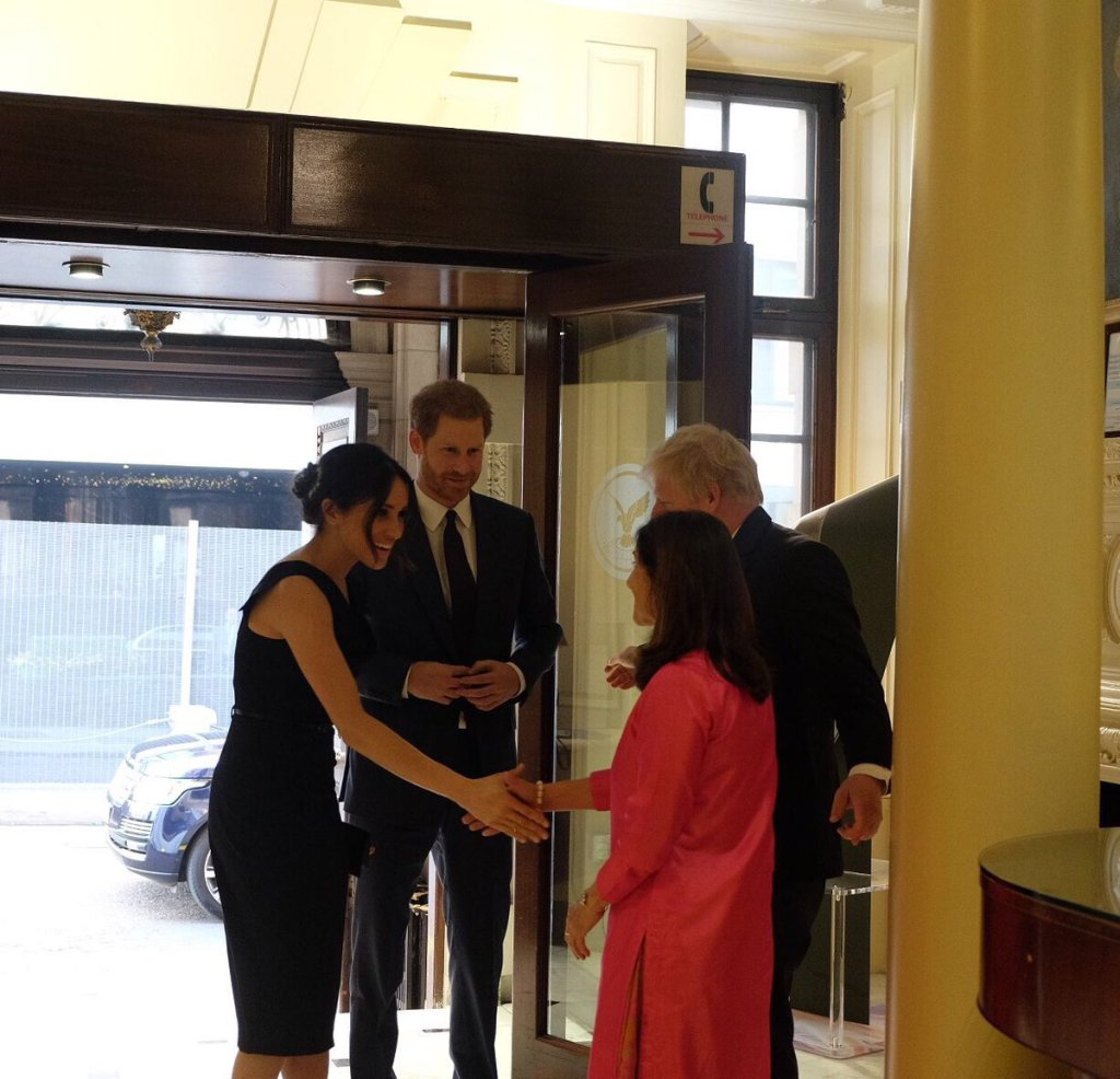 Prince Harry and Meghan meet Boris Johnson and wife.