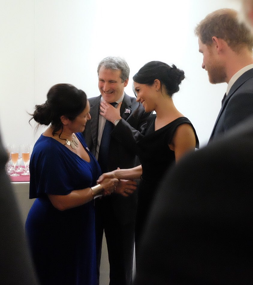 Harry and Meghan attend reception