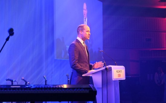 """Duke of Cambridge at """"Welcome to the UK"""" reception"""