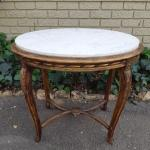 French Giltwood And Marble Top Table Circa 1900 The Crown Collection