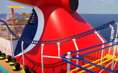 Carnival Releases New Video of the First Roller Coaster at Sea