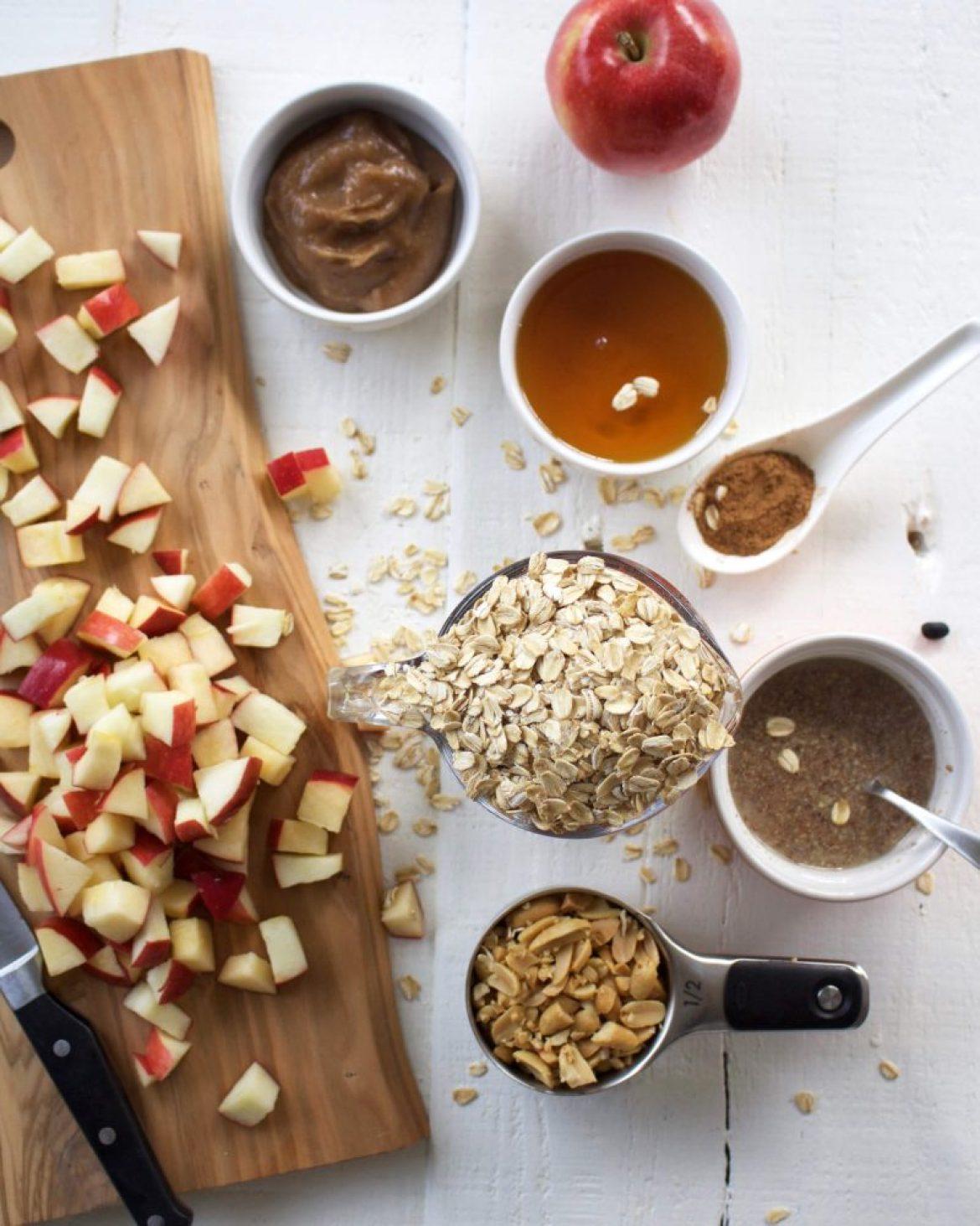 Apple Baked Oatmeal with Vegan Caramel Sauce