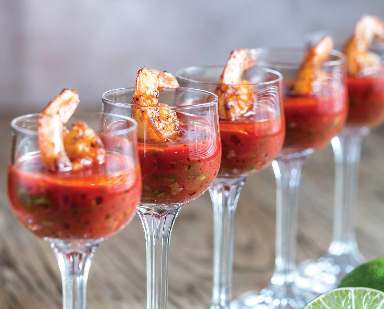 Bloody Mary Prawns