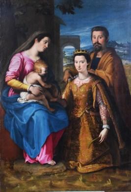 Lucrezia Quistelli Matrimonio mistico di Santa Caterina, 1576 Olio su tela, 180X120 cm Parrocchia Santa Maria e San Pietro in Silvano Pietra (PV)