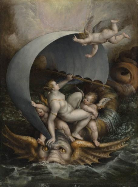 Lavinia Fontana Galatea e amorini cavalcano le onde della tempesta su un mostro marino, 1590 circa Olio su rame, 48x36,5 cm Collezione privata Crediti fotografici: Carlo Vannini