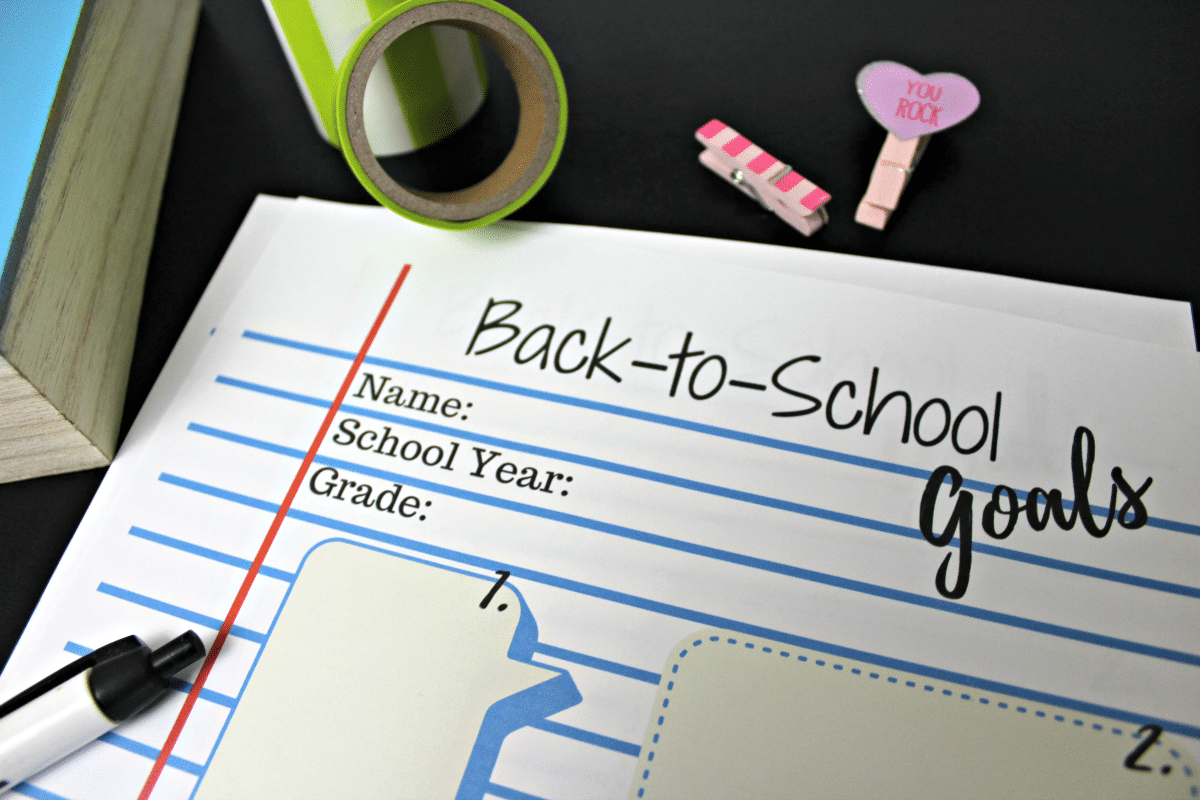 Download My Free Back To School Goals Printable For Your