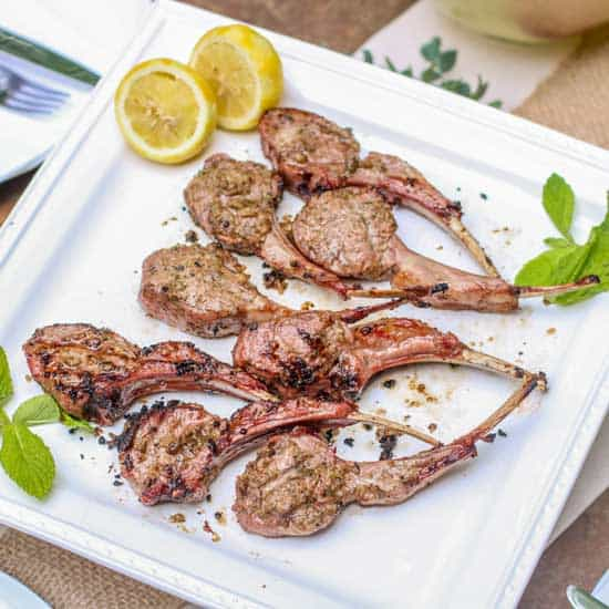 Impress your guests at your next get together with these Mint Marinated Aussie Lamb Chops!