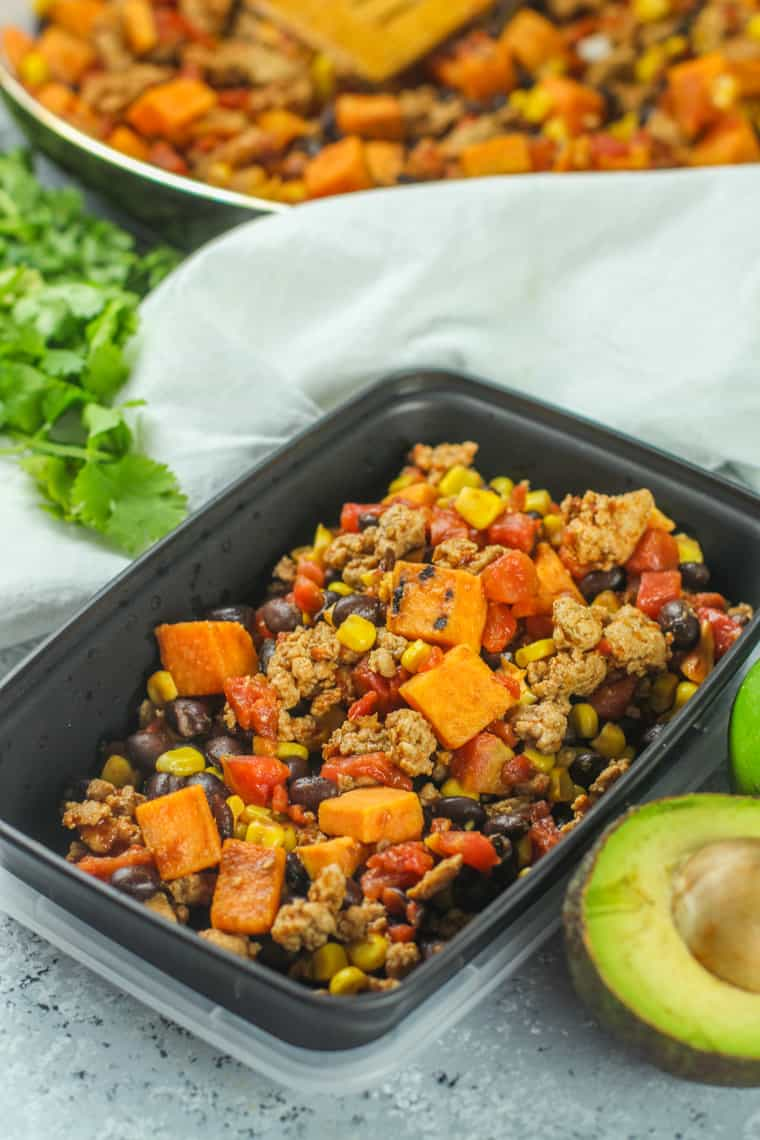 This Rainbow Ground Turkey Skillet is so easy to make and versatile!