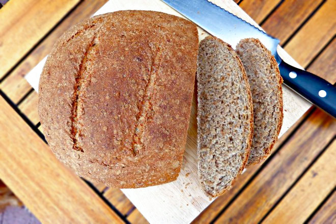 Rustic Crusty Wholemeal and Rye Bread (made from scratch)