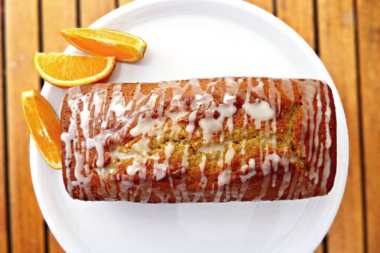 Super Soft Tangy Wholemeal Orange Drizzle Loaf Cake